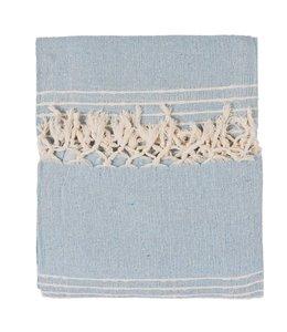 Decken Plaid Baumwolle hellblau