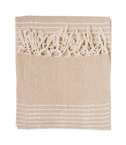 Decken Landhausstil Plaid Baumwolle Natur