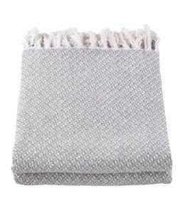 Decken Landhausstil Plaid Baumwolle grau