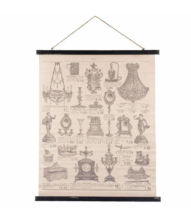 Französische Wandkarte Mit Alten Deko Accessoires
