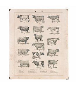 Landhaus Wandbild Kühe