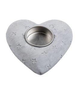 Shabby Chic Teelichthalter Herz - 2er Set