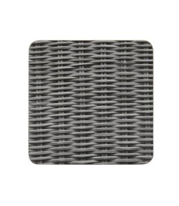 Glasuntersetzer Rattan grau - 6er Set