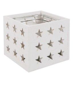 Teelichthalter Teelichthalter weiß - Sterne