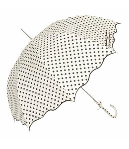 Regenschirme Regenschirm weiß - schwarz gepunktet