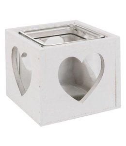 Teelichthalter Teelichthalter Herz Landhaus - 2er Set