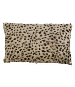 Kissenhülle Leopard - Ziegenleder 30x50