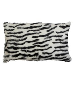 Landhaus Kissenhülle Ziegenfell - Zebra 30x50
