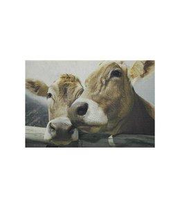 Landhaus Tischset Schweizer Kühe