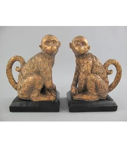 Garten Buchstützen Affen gold