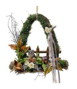 Garten Waldgesteck mit Eule - Herbstdekoration