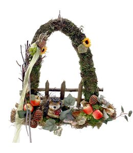 Garten Waldgesteck mit Igel - Herbstdekoration