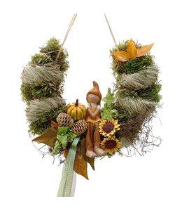 Garten Bogen mit Kürbiskind - Herbstdekoration