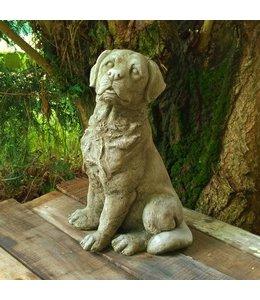 Steinfiguren für den Garten Steinfigur Labrador sitzend