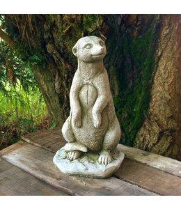Steinfiguren für den Garten Steinfigur Erdmännchen stehend