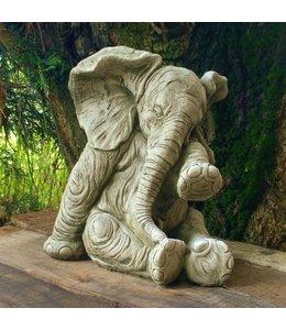 Steinfiguren für den Garten Steinfigur Elefant weinend