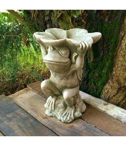 Steinfiguren für den Garten Steinfigur Frosch mit Schale