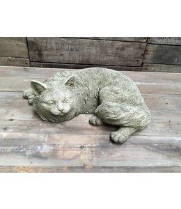 Steinfiguren für den Garten Steinfigur Katze schlafend