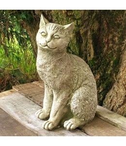 """Steinfigur """"Katze"""" mit Antik-Patina für den Landhausgarten"""