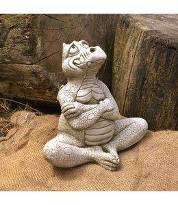 Steinfiguren für den Garten Steinfigur Schmollender Drache