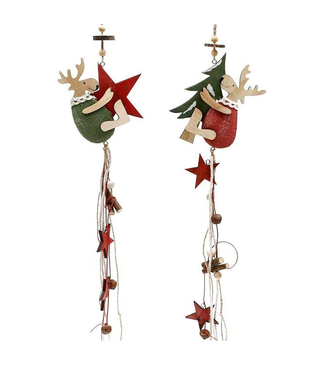 Weihnachtsanhänger Hirsche im 2er Set