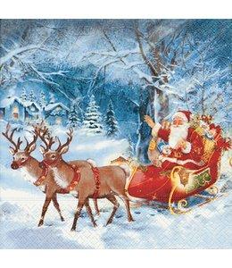 Servietten - Santa on tour