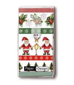 Taschentücher Weihnachtsmann und Rentier