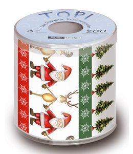 Toilettenpapier - Weihnachtsmann mit Rentier
