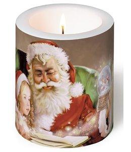 Kerzen Kerze - Weihnachtsmann mit Kind