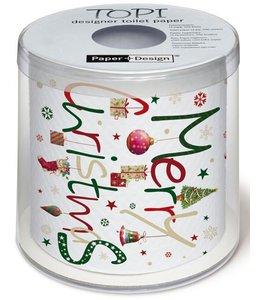 "Toilettenpapier Toilettenpapier ""Merry Chrismas"" für Gartenfreunde"