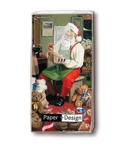"""Taschentücher Taschentücher """"Santa bei der Arbeit"""""""