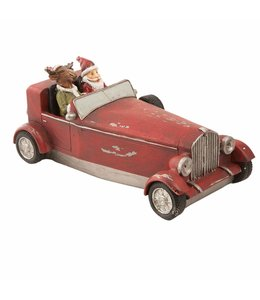 Weihnachtsdekoration Weihnachtsmann im Auto