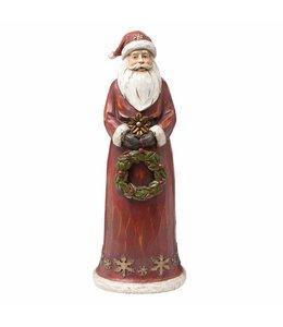 Weihnachtsmann mit Kranz
