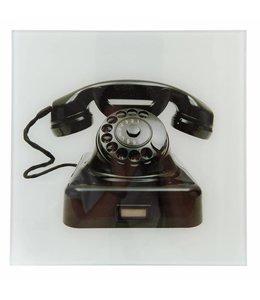 """Wandbild Landhaus """"Nostalgisches Telefon"""" 30x30"""