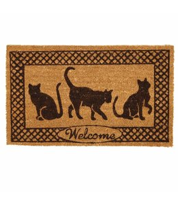 "Türmatte ""Welcome"" Katzen"