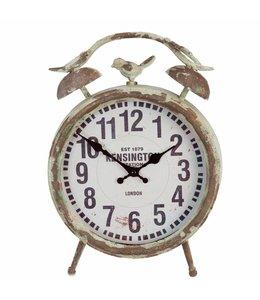Uhr mit Spatz für den Wintergarten