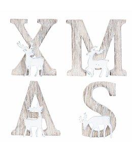 Buchstaben XMAS für den Wintergarten