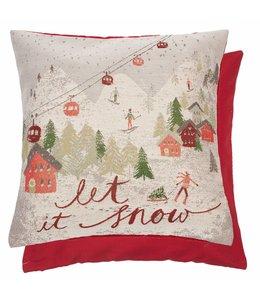 """Kissenhülle """"Let it Snow.."""" 45x45"""