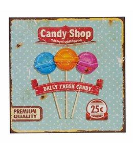 Deko-Schild Candy Shop