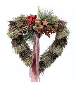 Weihnachtsdeko-Herz zum Aufhängen