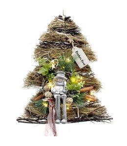 Weihnachtsdekoration Baum mit Schneemann