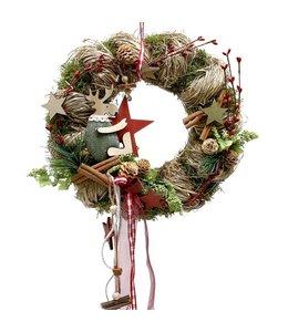 Türkranz mit Elch - Weihnachtsdekoration