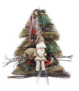 Villa Jähn Deko-Aufhänger Baum mit Weihnachtsmann