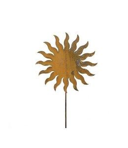 Gartenstecker Sonne - Rostige Gartendekoration
