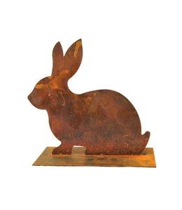 Hase aus Metall - Rostige Gartendekoration