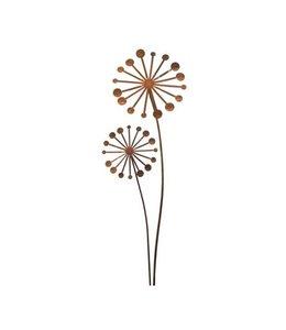 Gartenstecker Pusteblume - Rostige Gartendeko