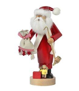 Räuchermann Weihnachtsmann mit Puppe