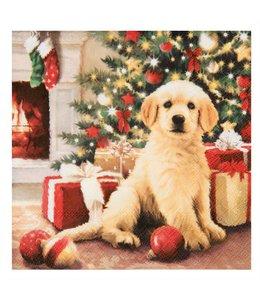 """Landhaus Weihnachtsdeko Servietten """"Weihnachten mit Hund"""""""