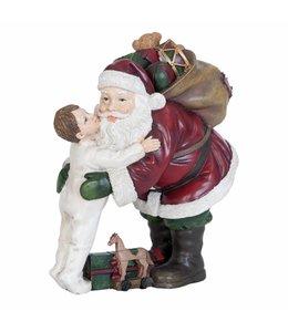 Landhaus Weihnachtsdeko Weihnachtsmann mit Junge