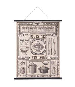 """Nostalgische Wandkarte """"Cuisine Vintage"""""""